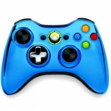 Джойстик беспроводной Wireless Controller Chrome Blue оригинал (XBOX 360)