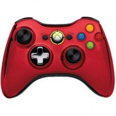 Джойстик беспроводной Wireless Controller Chrome Red оригинал (XBOX 360)