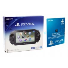 Sony PS Vita 2000 (Slim) + Карта Памяти 4Gb + Чехол + USB кабель