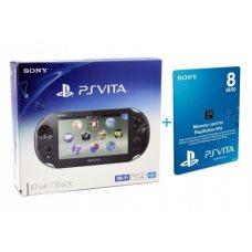 Sony PS Vita 2000 (Slim) + Карта Памяти 8Gb + Чехол + USB кабель
