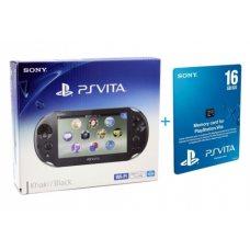 Sony PS Vita 2000 (Slim) + Карта Памяти 16Gb + Чехол + USB кабель
