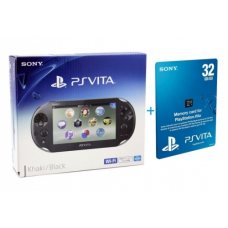 Sony PS Vita 2000 (Slim) + Карта Памяти 32Gb + USB кабель