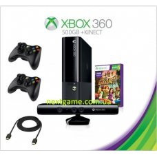 Xbox 360 Slim E 500Gb FREEBOOT + LT+3.0 + 120 Игр + Kinect + Игра Kinect Adventures +дополнительный джойстик + HDMI